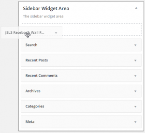 Drag the 'SL3 Facebook Wall Feed' widget to the sidebar of your choice.